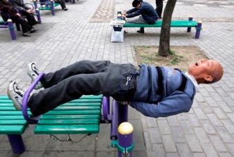 Los mayores en china cuidan mucho su salud