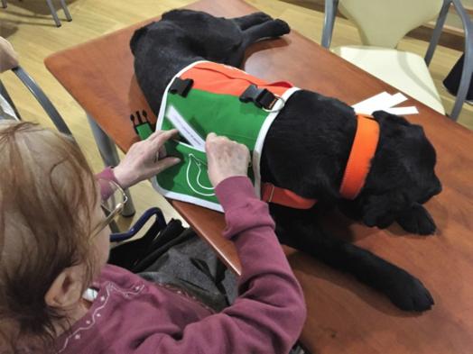 Trabajando con mayores con demencia con perros