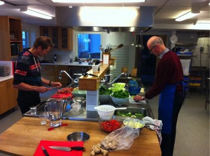 La cocina es un elemento de comunidad importante en un cohousing de Suecia