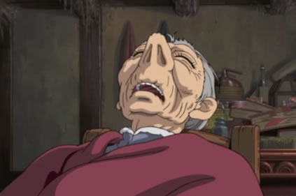 Anciano durmiendo