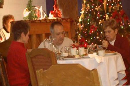 Cena navidad en residencia de ancianos