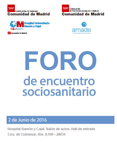 Foro de encuentro sociosanitario en madrid for Hospital de dia madrid