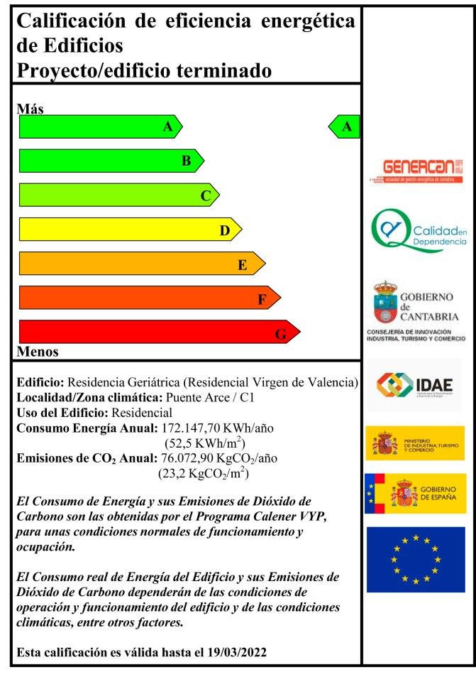 Cantabria una residencia con calificacion energetica a for Certificado energetico en santander