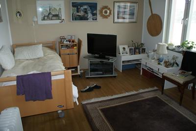 Habitación en residencia de ancianos de estocomo